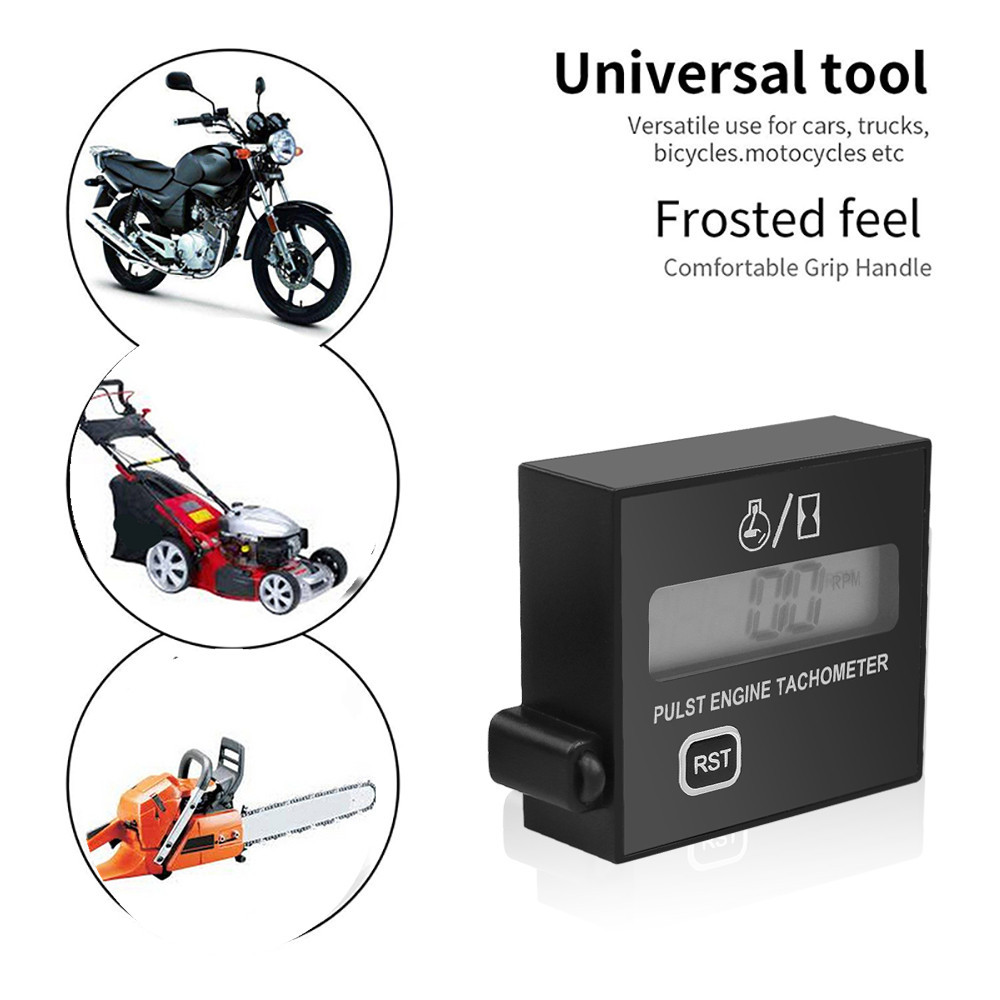Details about Electronic Motorbike Gauge Chainsaw Car Tachometer Hour Meter  Digital Engine NEW