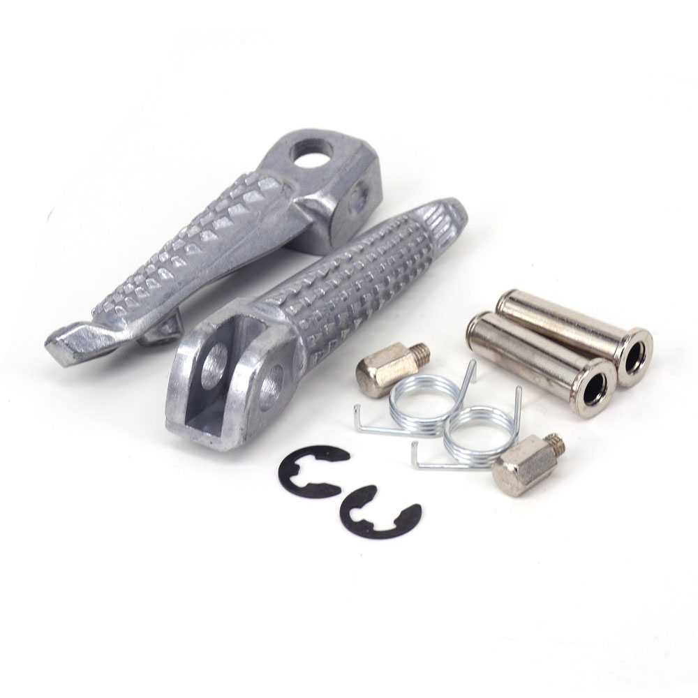 Front Foot Pegs Rests Pedals For Kawasaki Ninja ZX6R ZX 10R Z1000SX KLE650 Z750S
