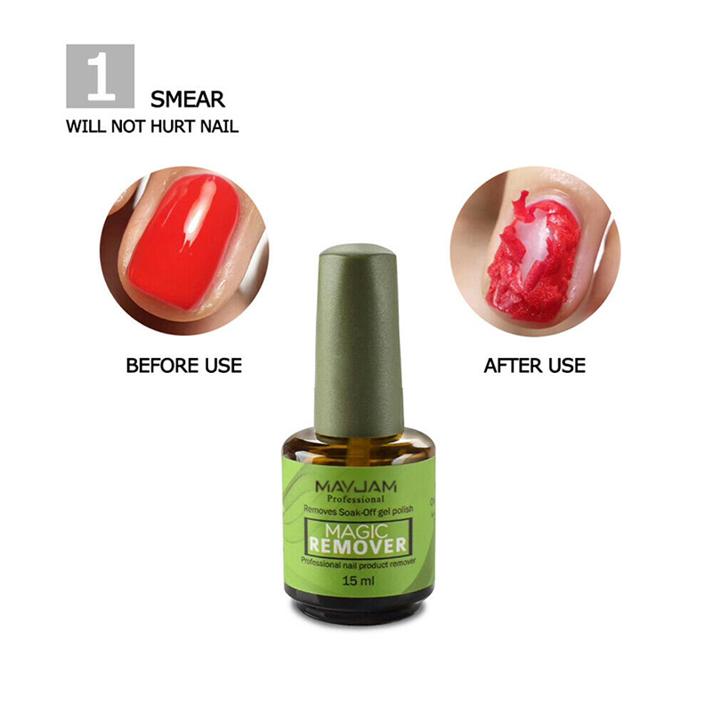 Hot 15ml Magic Nail Polish Remove Gel Acrylic Soak Off Clean Degreaser Ebay