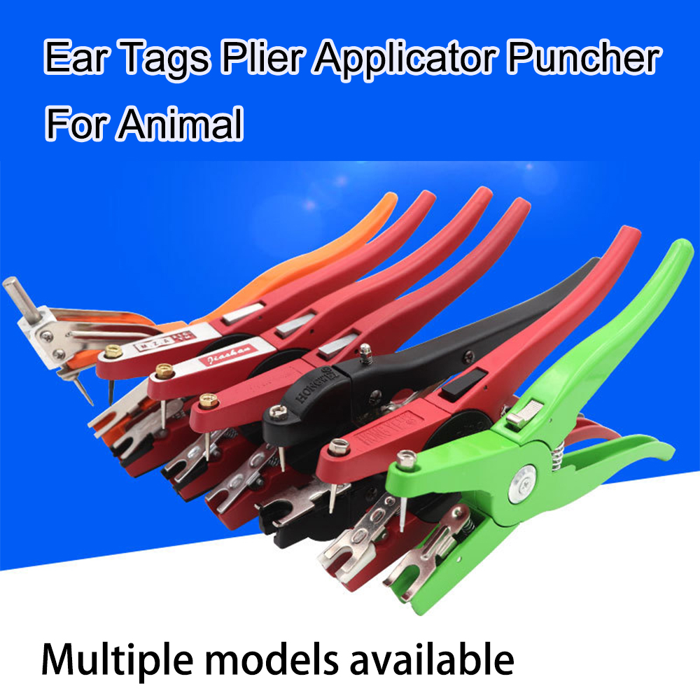 Pig Plier Sheep Cattle Applicator Puncher Ear Tag Plier Tagger 100 Ear Tag