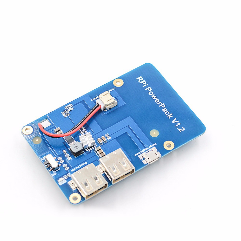 Raspberry Pi 3 Model Dual-USB Lithium Battery 3000mAH 5V 1A Expansion Board US