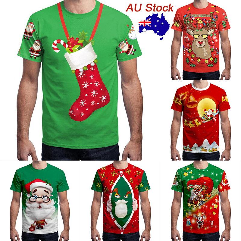 Women Christmas Santa Claus Print Lace Funny Shirt Long Sleeve Plus Size Casual Holiday Party Tops Blouses