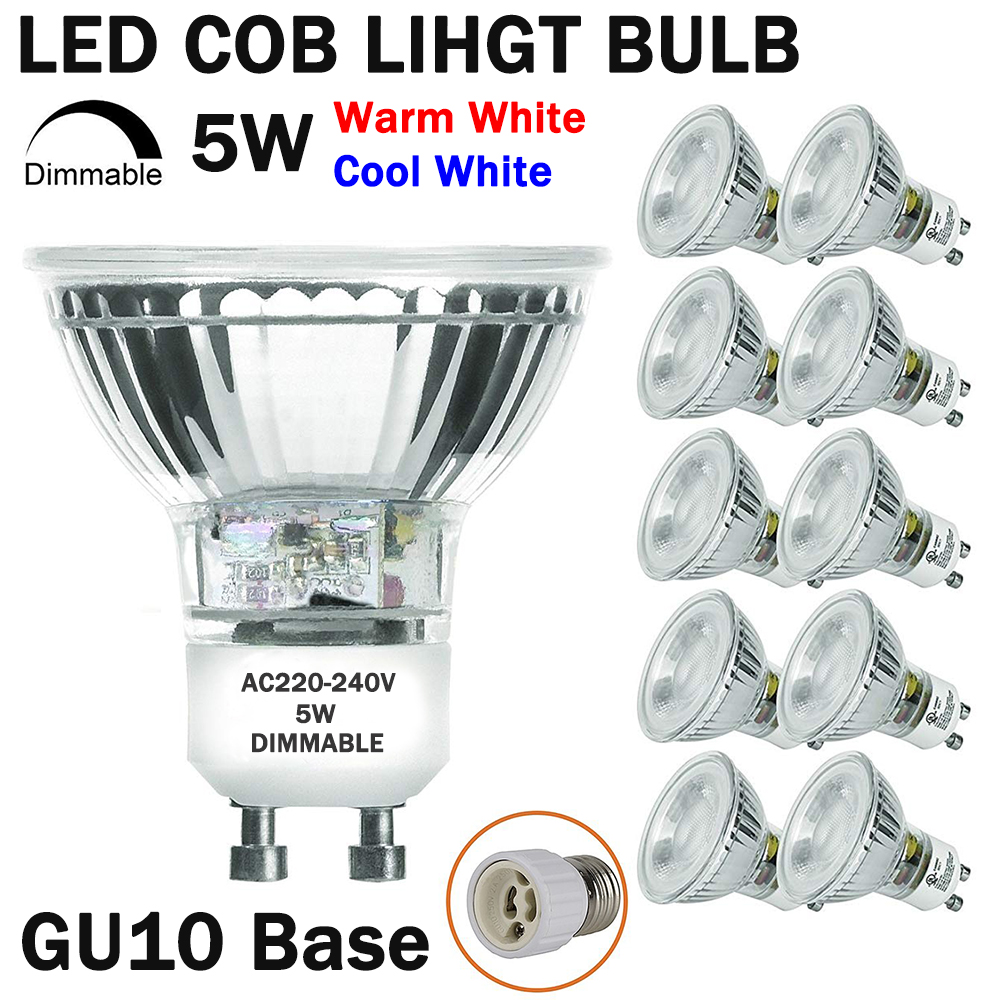 1//2//4//6Pc GU10 Dimmable LED Spotlight Lights Cup Bulbs Reflector Warm//Cool White