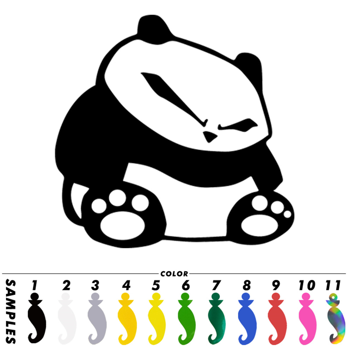 2pcs Cute Panda Eat Bamboo Car Window Truck Vinyl Decal Removable Wall Stickers