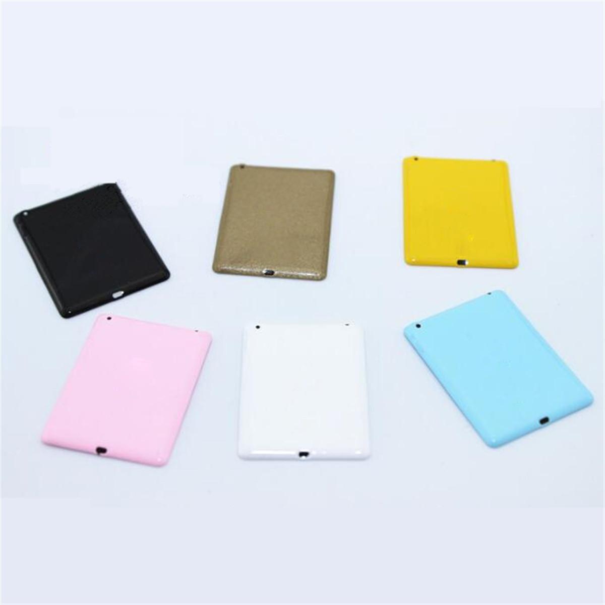 1PC Dollhouse Miniature Mini Look Tablet Computer Pad Decor Gift  Random Color