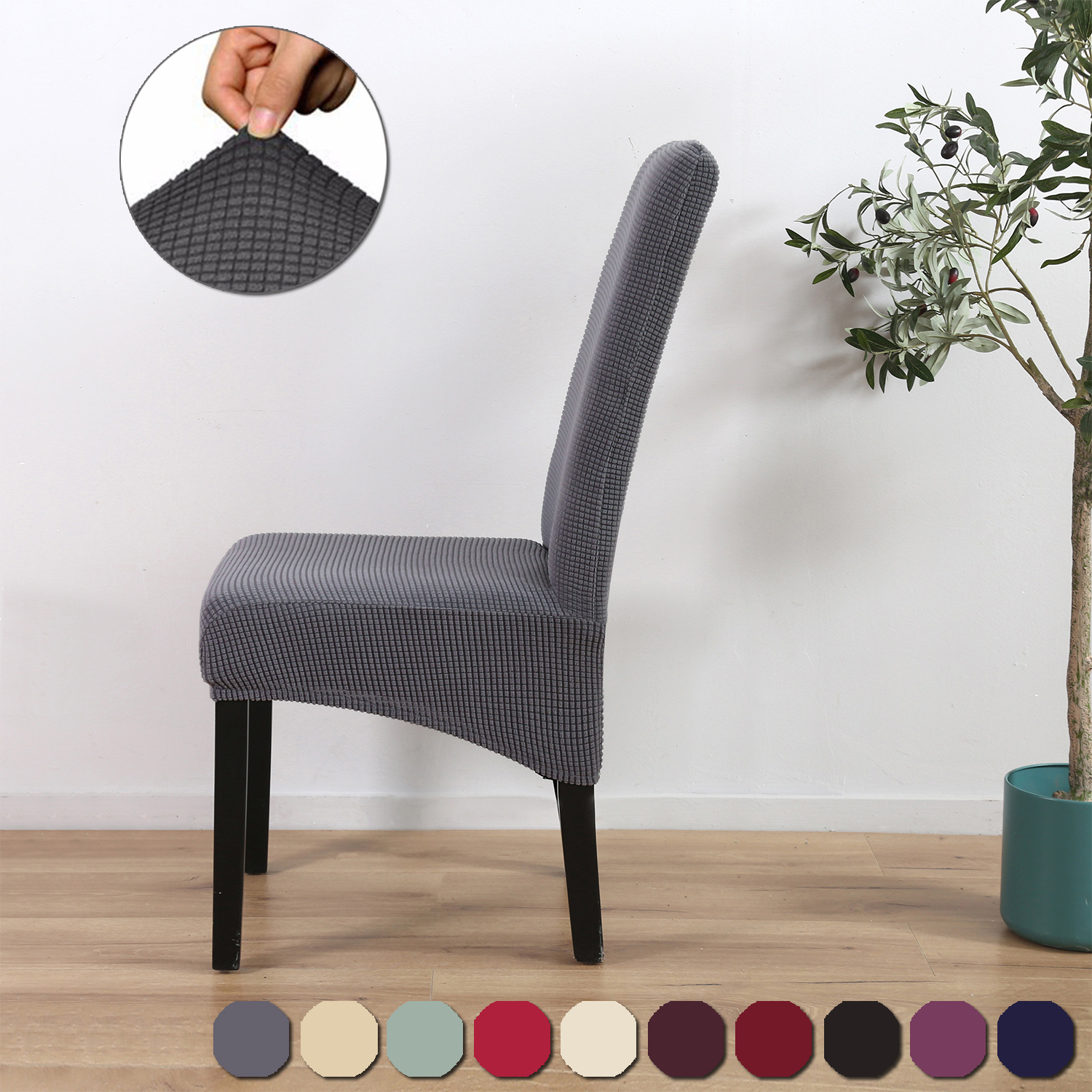Pleasing Details About 1 8Pcs Dining Chair Covers Spandex Slip Cover Stretch Wedding Banquet Party Deco Creativecarmelina Interior Chair Design Creativecarmelinacom