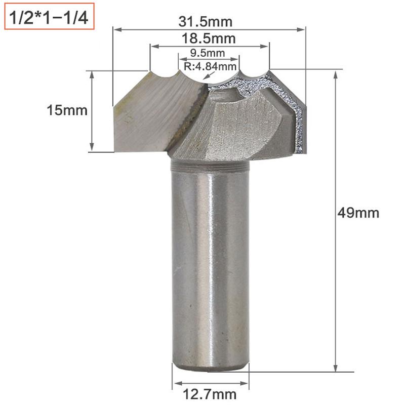 Router Rille Spitze CNC Gravur 1//2 1//4 Schaft Für die Holzbearbeitung Neu DE