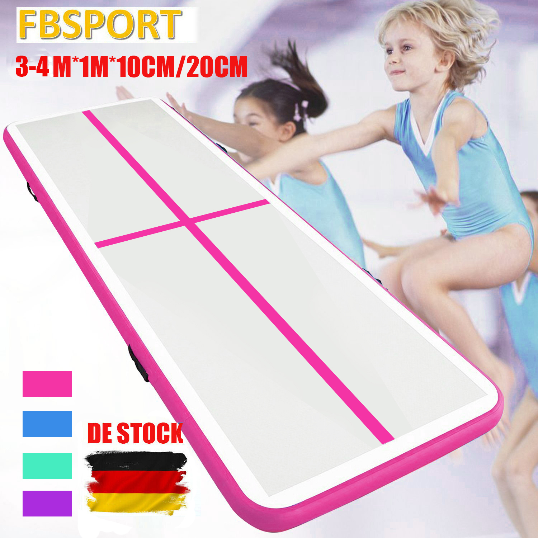 4M Air Track Aufblasbar Gymnastikmatte Tumbling Matte Yoga Pad Inflatable