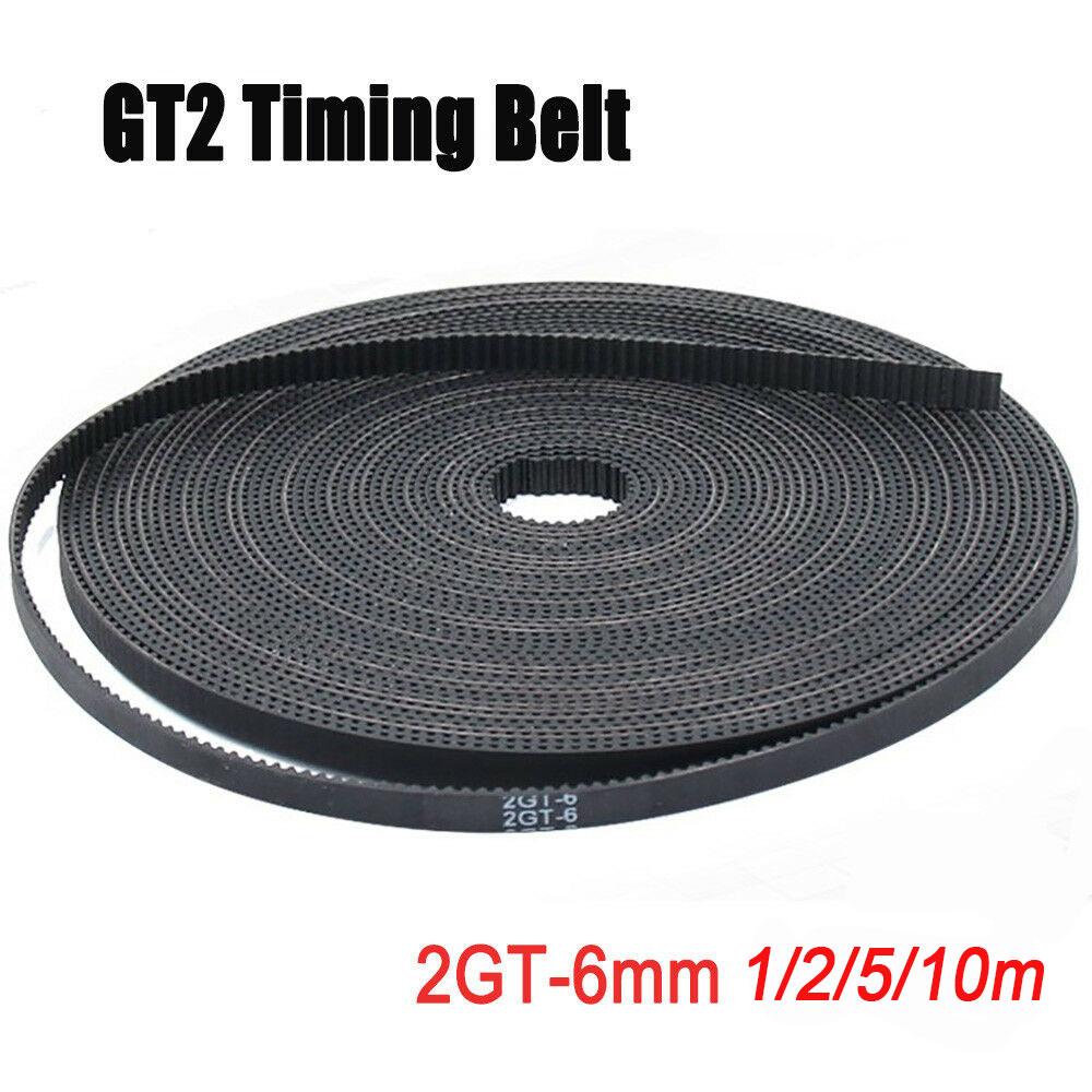5 Meter GT2 6 Mm Zahnriemen Belt Offen Timing Breit Für 3D Drucker CNC 2GT
