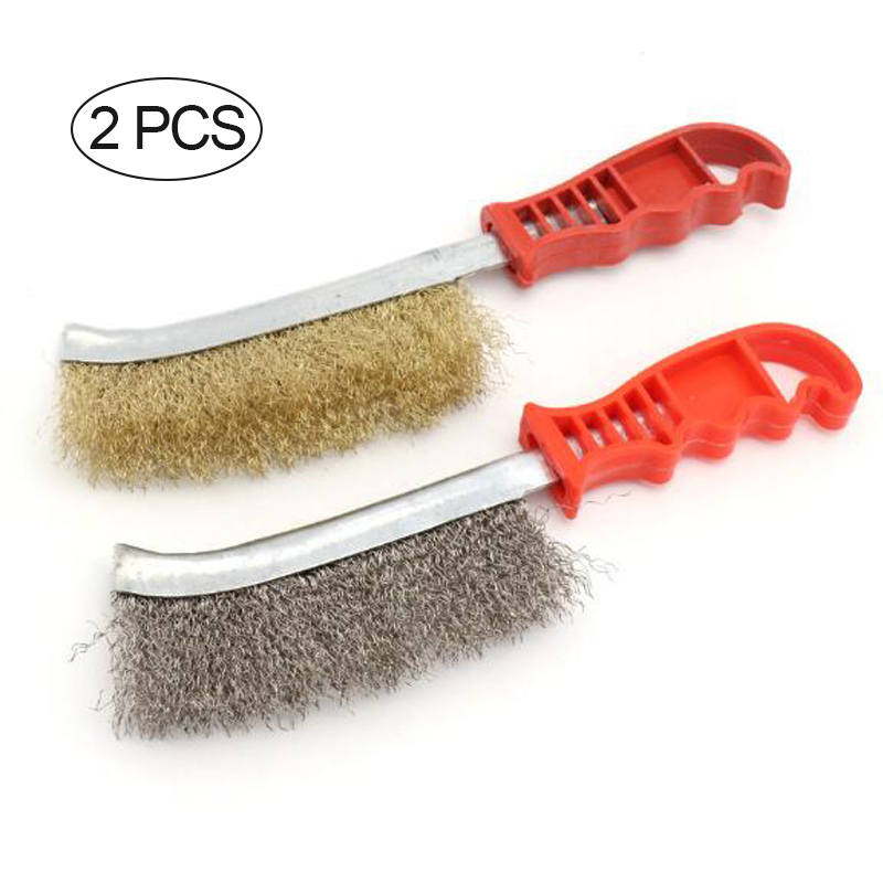 Stainless Steel Wire Brush For Cleaning Metal Rust Removal Welding Seam Tool