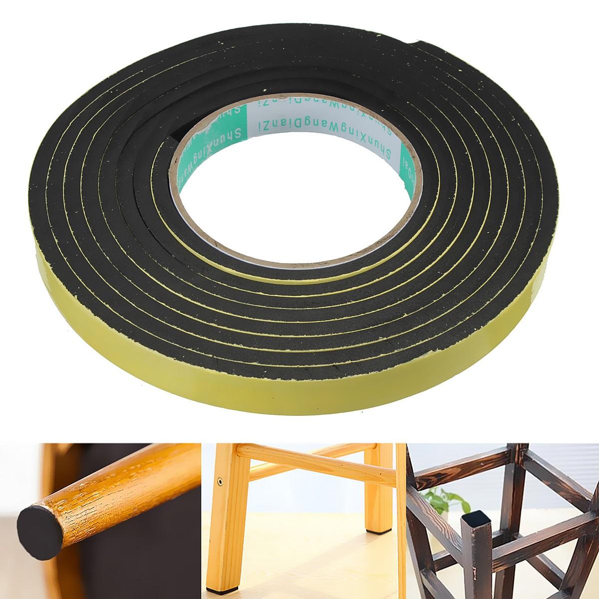 Neoprene Sponge Foam Self Adhesive Strip 5M 3//6//10mm Thick 12//20//25//32//50mm Wide