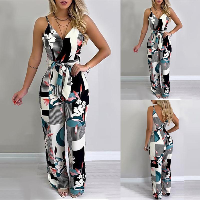 UK Fashion Womens Strappy V Neck Pocket Playsuit Ladies Summer Holiday Jumpsuit
