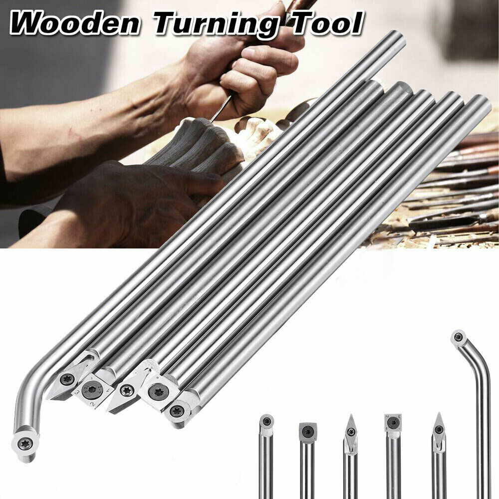 Wood Turning Carbide Tip Straight Multi Bit Lathe Insert Chisel Cutter Tools UK
