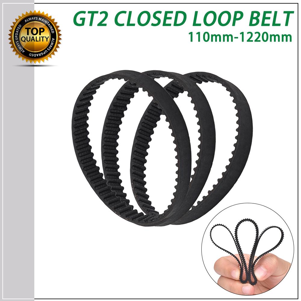 132mm GT2 geschlossener Zahnriemen 6mm 3D Drucker CNC closed Belt RepRap Antrieb