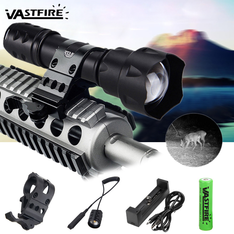 Zoom T20 38MM 850nm LED Infrared Radiation IR Laser Lamp Night Vision Flashlight
