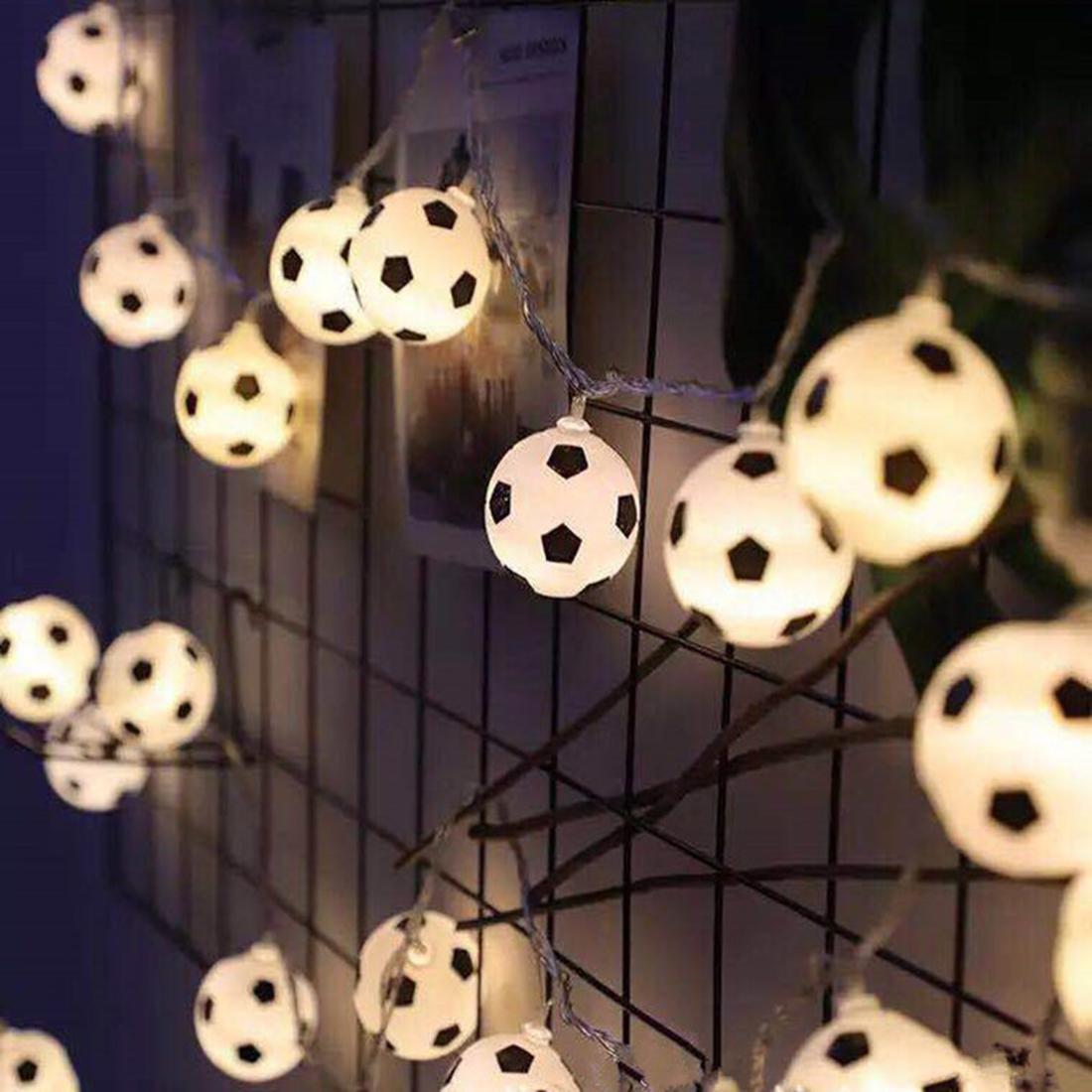 20LED Football Fairy String Light Boys Bedroom Home Decor ...