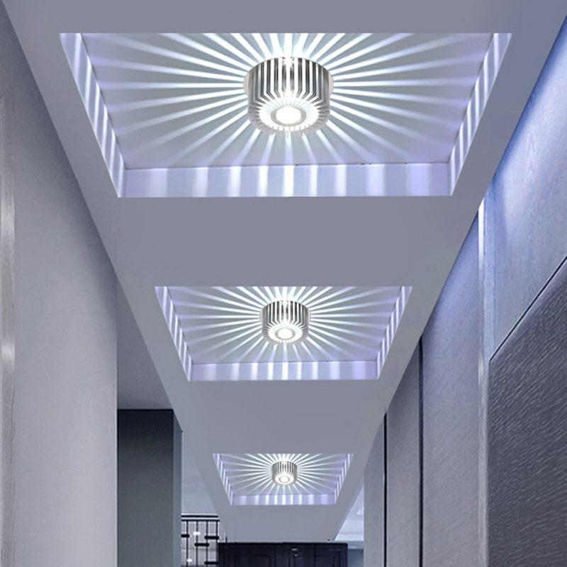LED 3W Modern Ceiling Light Sconce Spot Lighting Porch Hall Bar Lamp Fixture