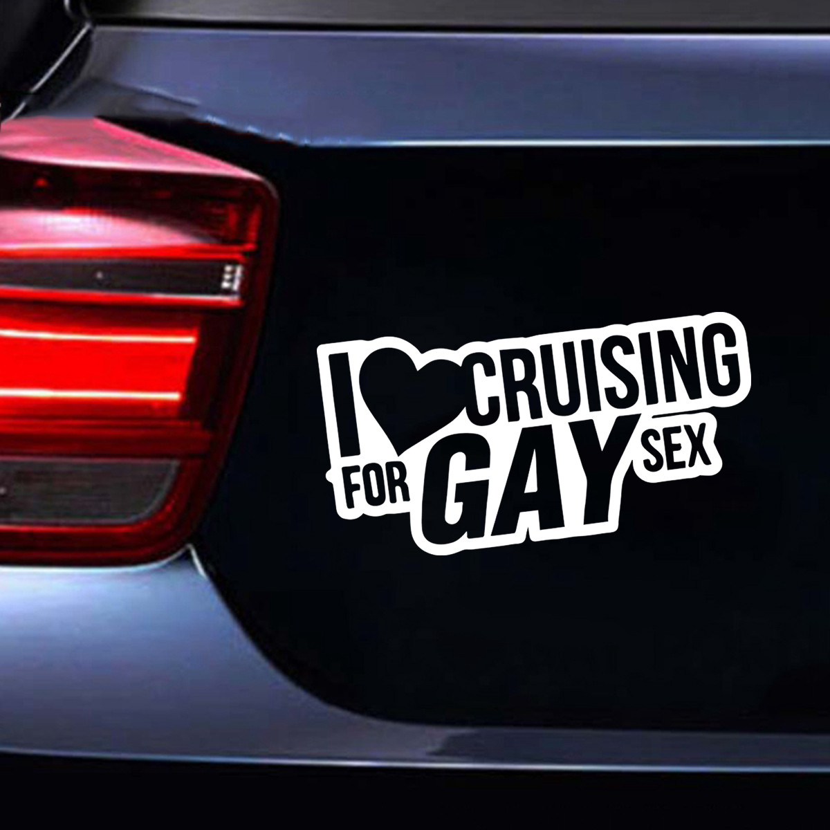 Details about i love cruising for gay sex car window door laptop bumper vinyl decal sticker