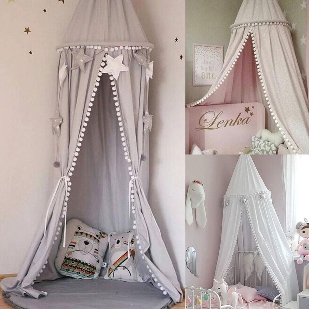 Betthimmel Baldachin Moskitonetz Runde Nestchen Kinder Schlafzimmer Mückennetz