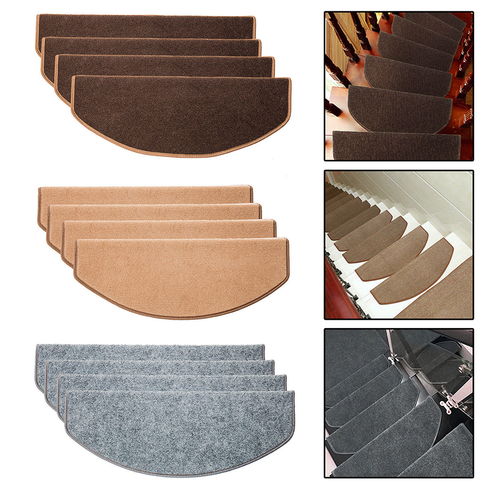 Stair Tread Carpet Mats Step Staircase Non Slip Mat Protection Cover Pads Kit