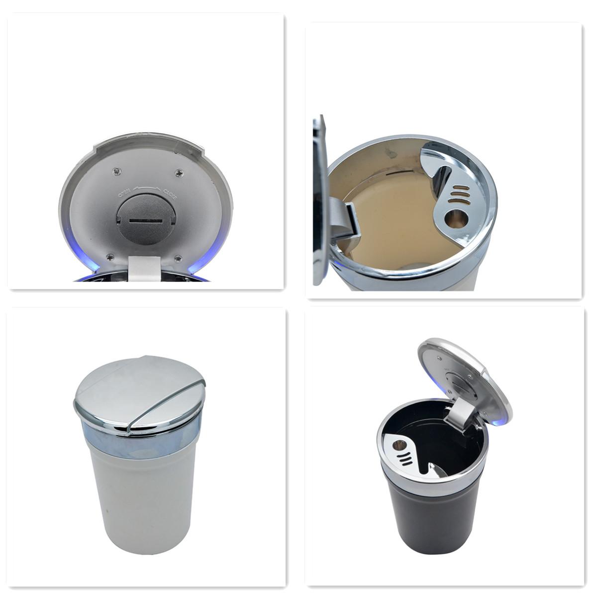 Auto-Aschenbecher mit Blaues LED Auto-Windaschenbecher mit Deckel /& Licht LED