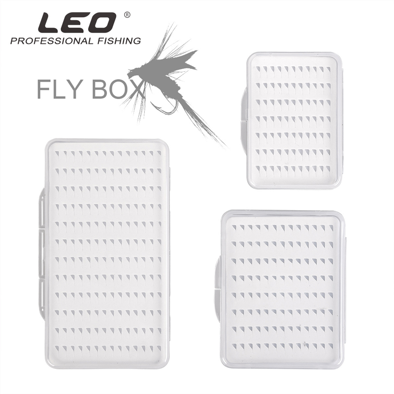 Portable Fly Fishing Lure Hook Box Ultra-thin ABS Plastic Clear Case Box S//M//L