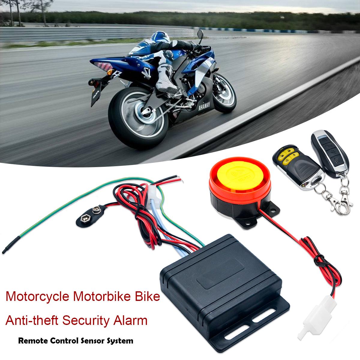 Motorbike Bike Anti-theft Security Alarm Lock Remote Arming 12V Waterproof New