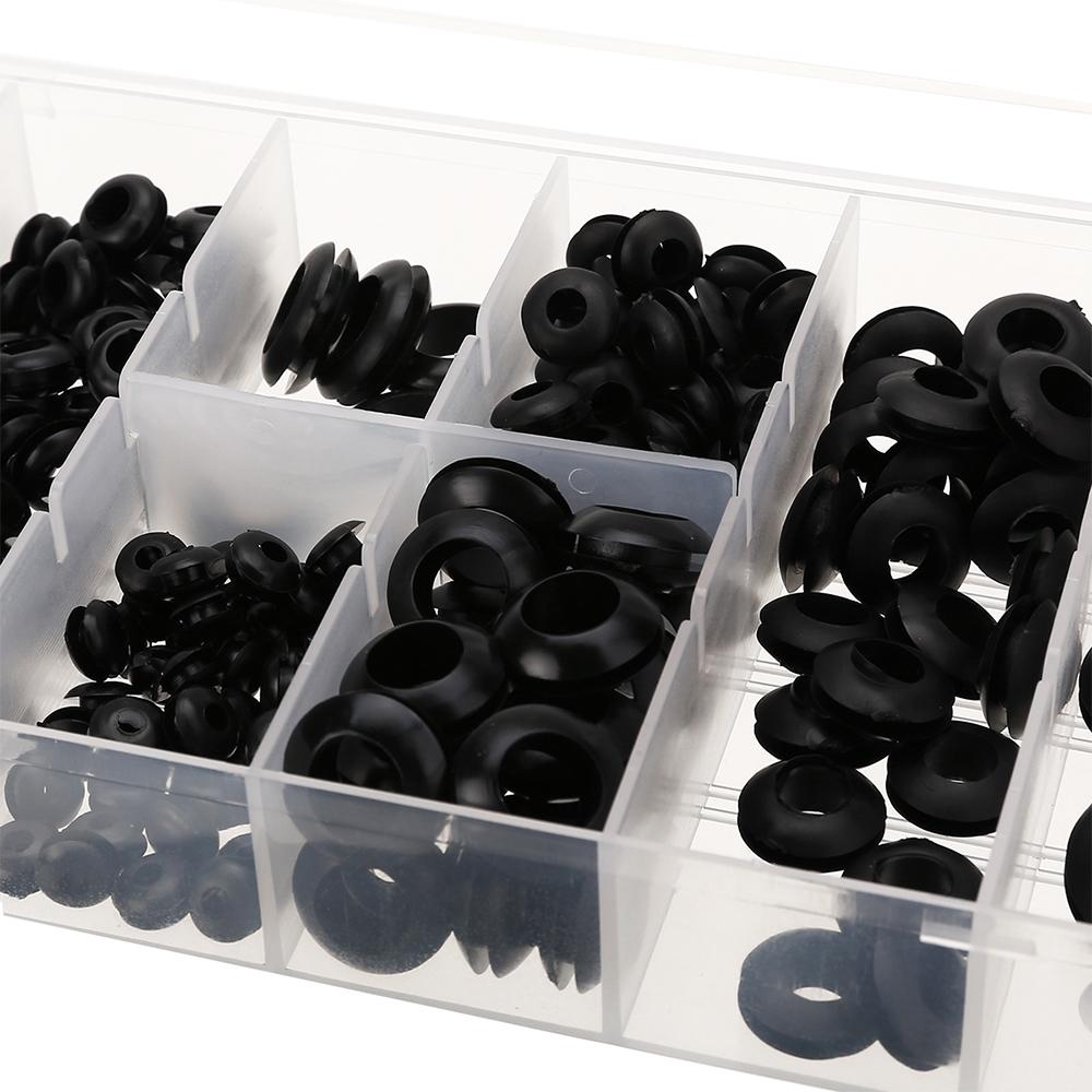 Durchführungsstüllen Sortiment-Box Gummi-Tülle Set Kabel Durchlass Satz 180-tlg
