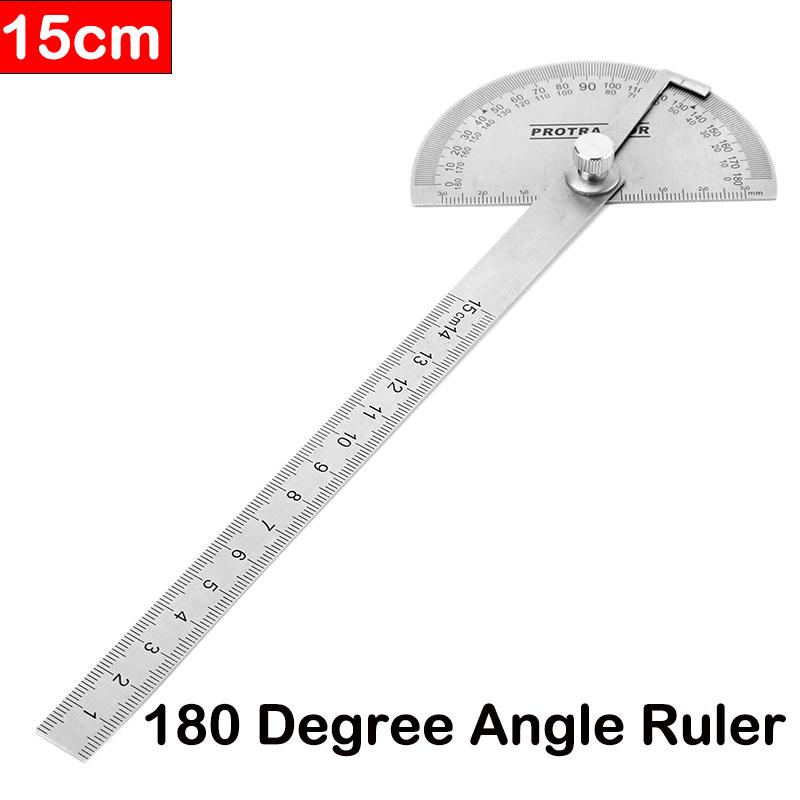 Numérique Résistant à Rapporteur l/'usure 180° règle d/'angle acier inoxydable