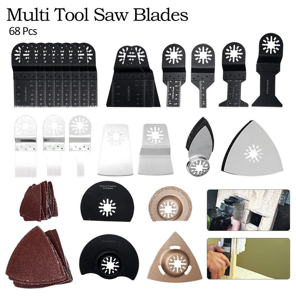 68Stk Multitool Sägeblätter Oszilliere für Fein Bosch Makita DIY Werkzeug Sicher