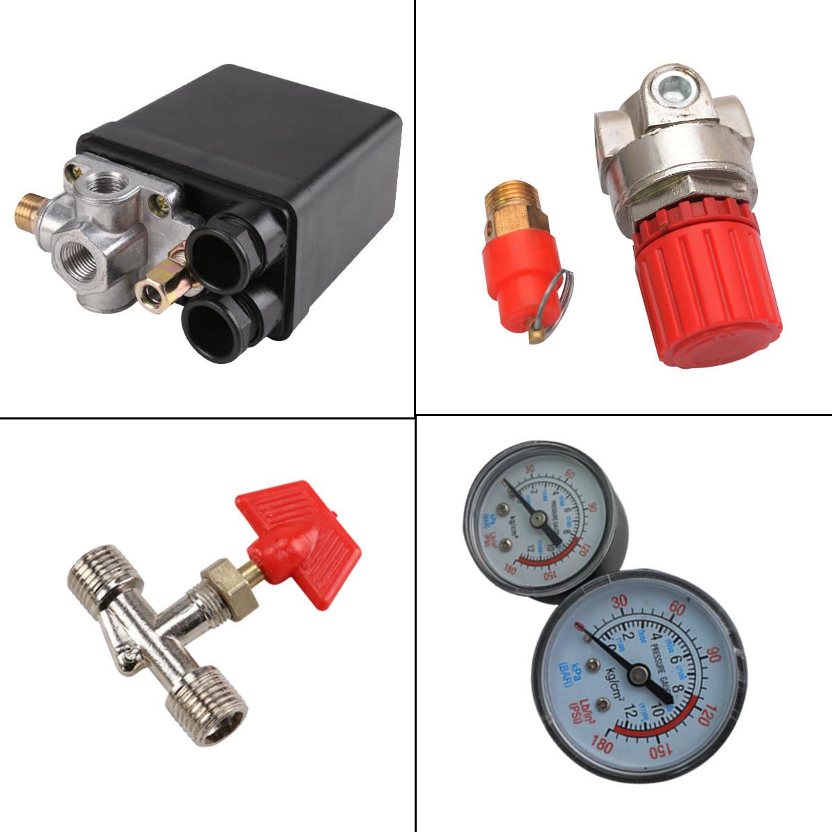Neu Druckregler mit Druckschalter für Kompressor Kompressorschalte 240V 12bar