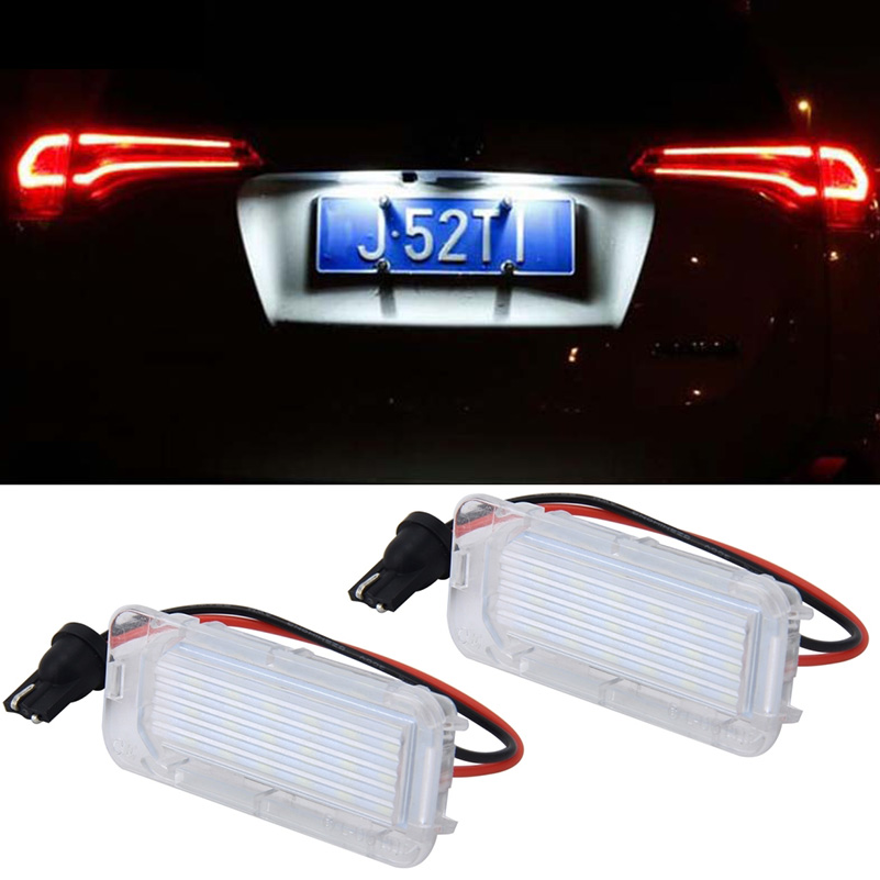 White LED Rear Number License Plate Light for Ford Focus 5D Mondeo Fiesta
