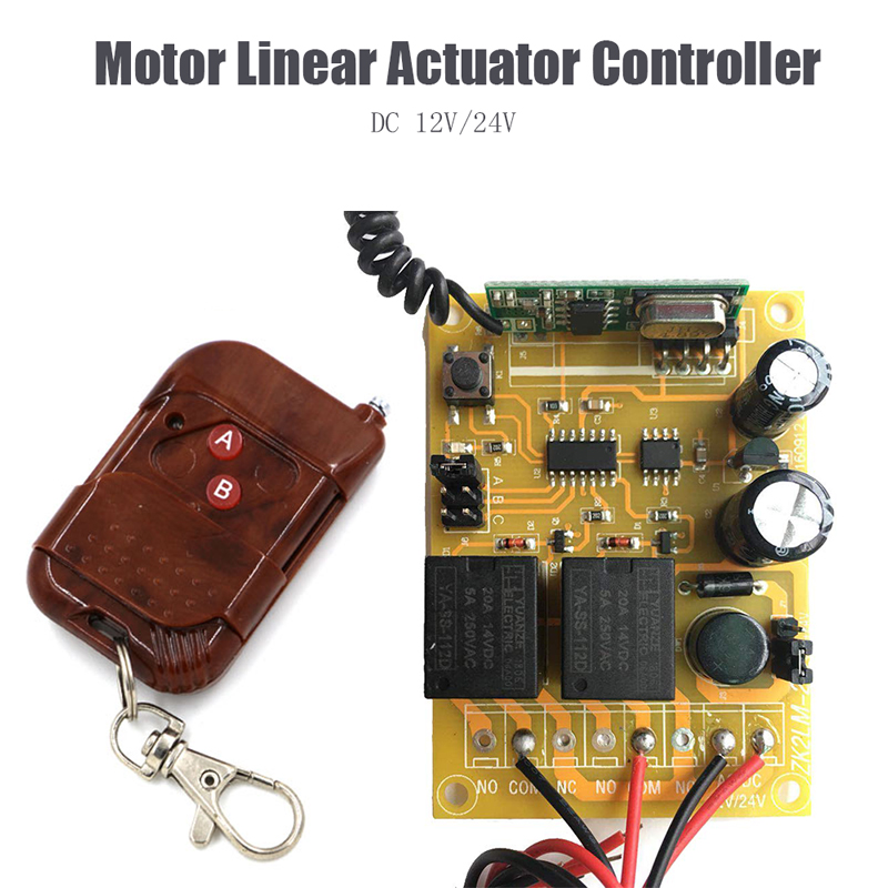 12V//24V DC Motor Linear Actuator Wireless Remote Forward Reverse Controller