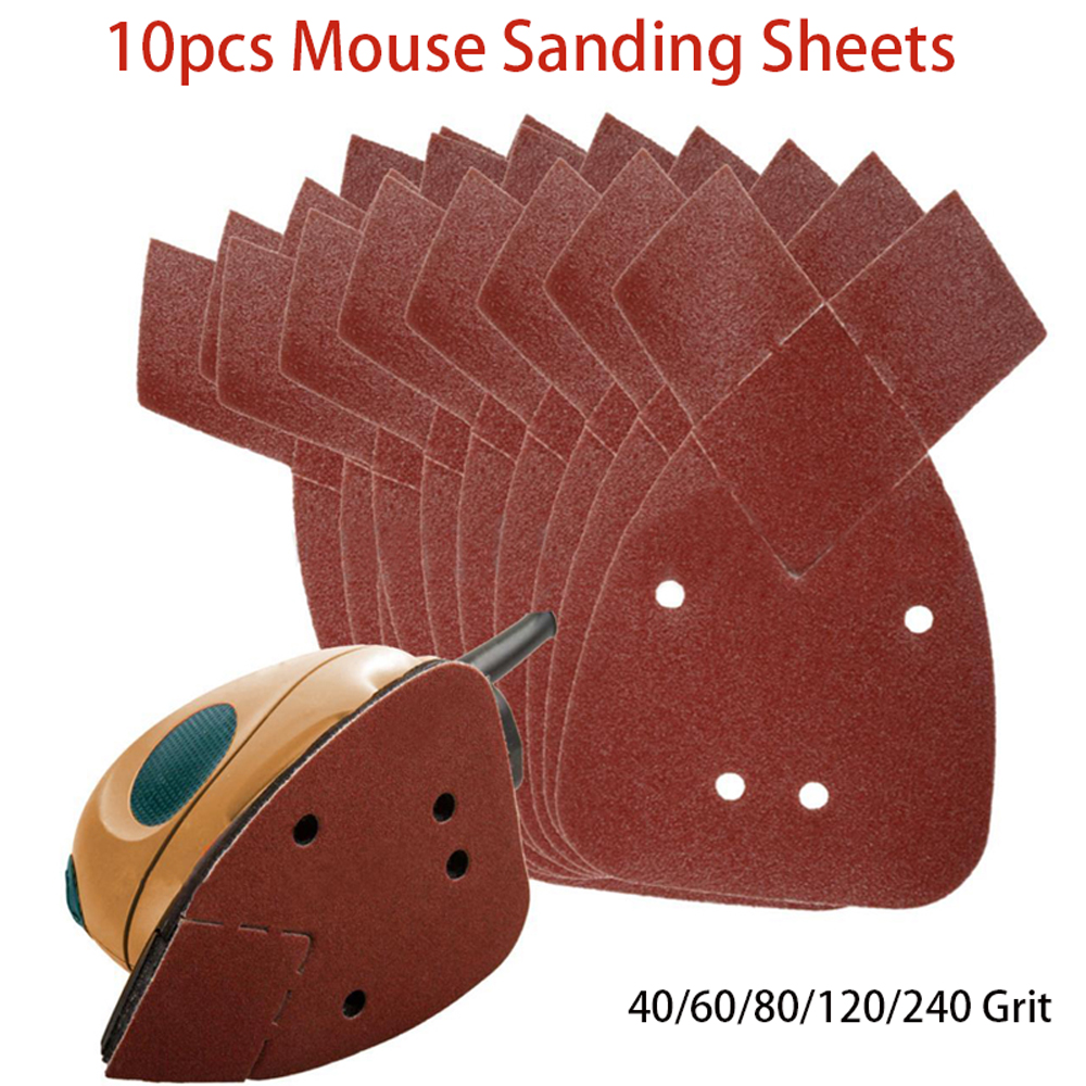 40 x 60 GRIT Mouse Sanding Sheets to Fit Black and Decker Detail Palm Sander