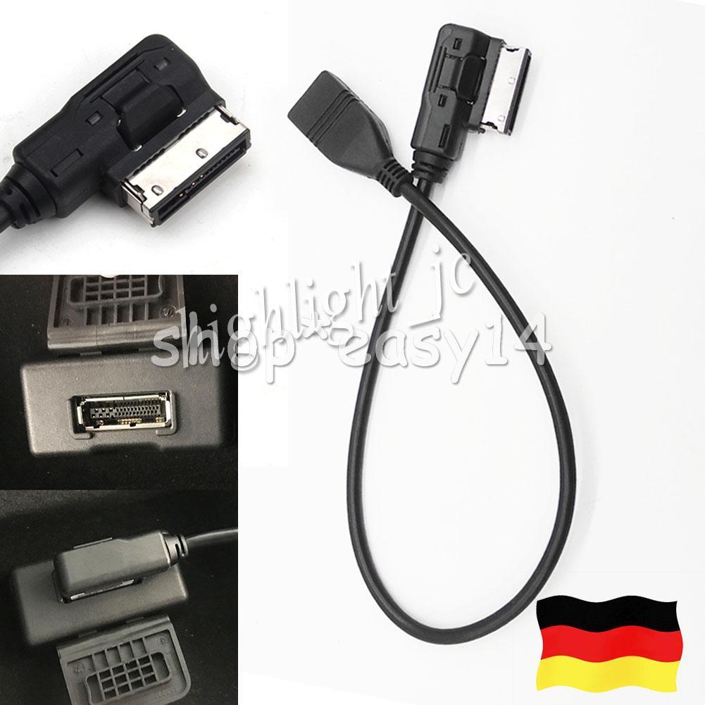 USB-Kabel Daten Sync laden Music Interface Adapter für Audi VW MDI-MMI AMI