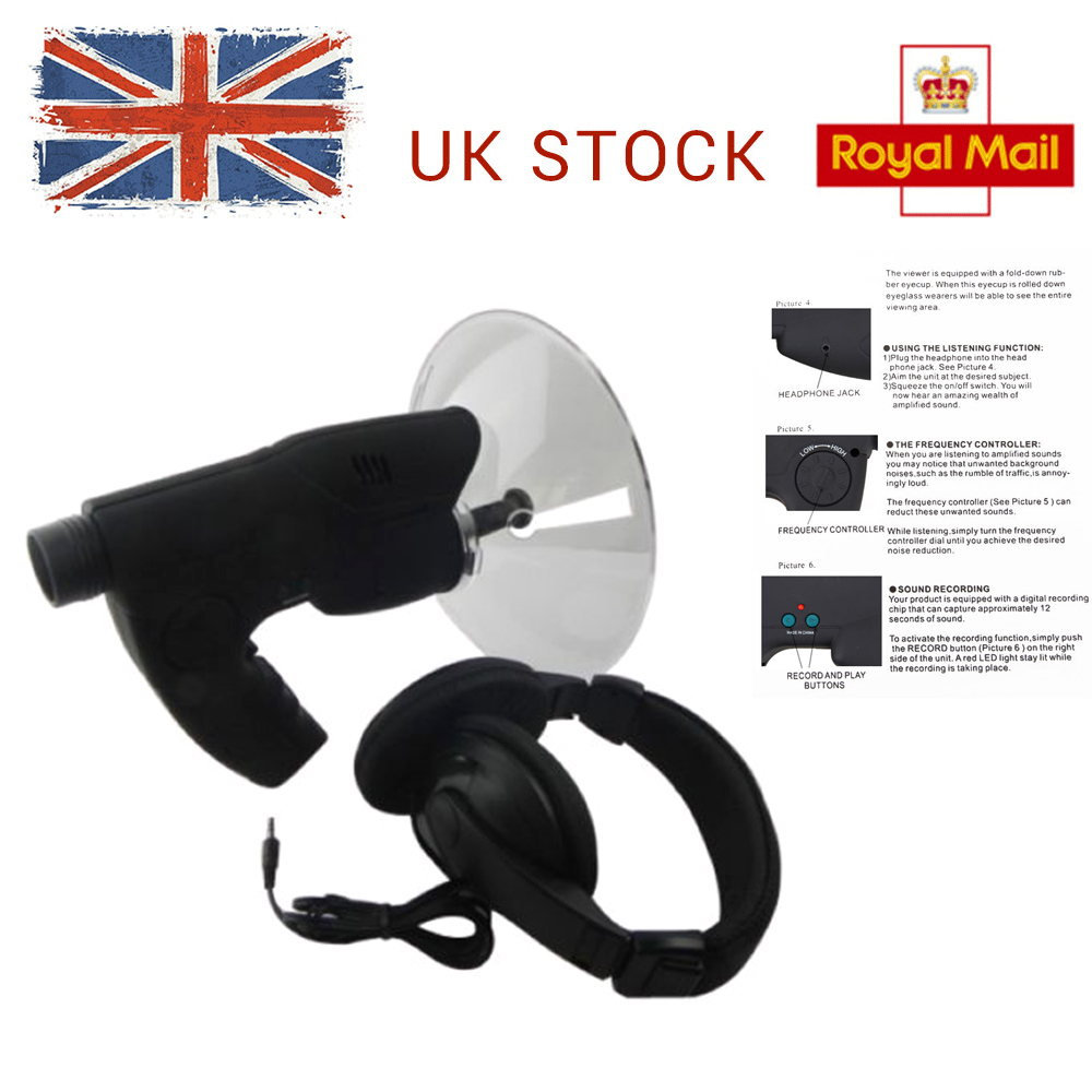 Details about Bionic Listening Extreme Sound Amplifier Spy Ear Device  Quality Headphones