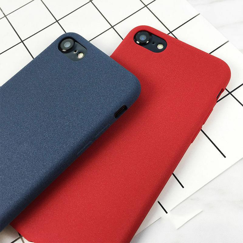 For iPhone SE 2020 11 Pro Max XS XR X 8 7 Matte Sandstone ...