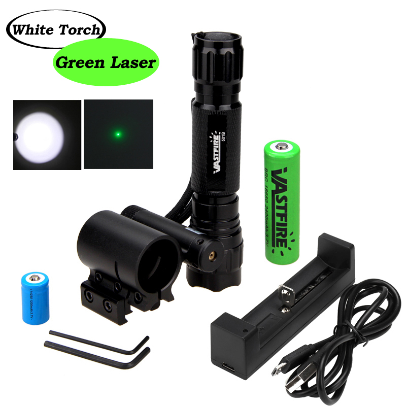 Tactical 3in1 Red//Green//Blue light LED Flashlight Torch Hunting Picatinny Mount