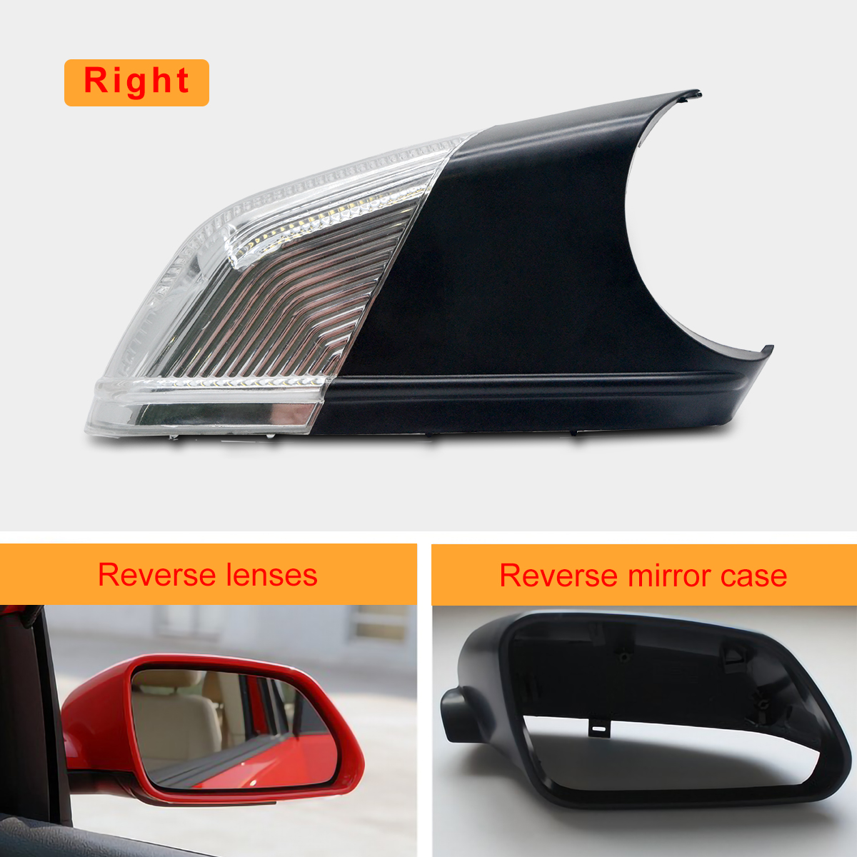 FOR VW Polo MK5 9N 2005-2010 Wing Door Mirror Indicator Right Drivers Side O//S