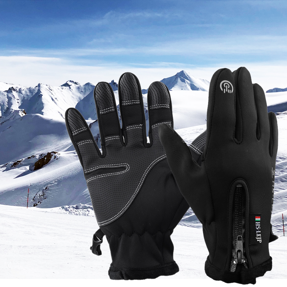 Winter Warm Windproof Waterproof Anti-slip Thermal Touch Screen Bike Ski Gloves