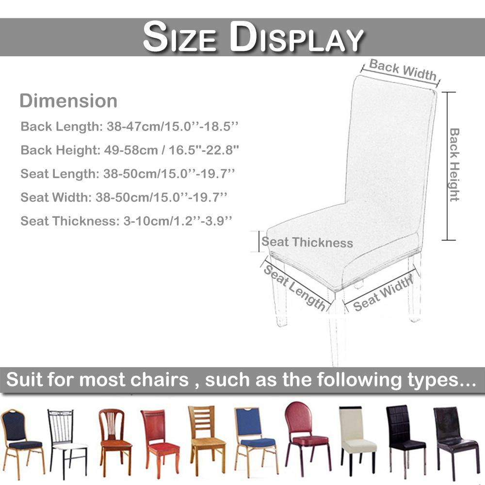 1//4//6//8 Pcs Large Solid Spandex Stretch Wedding Banquet Pleuche Chair Seat Cover