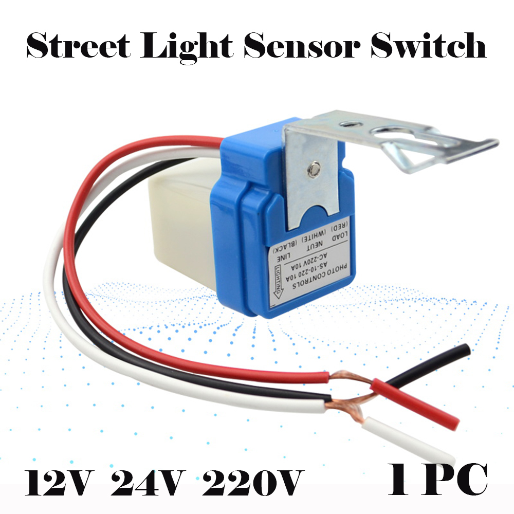 Automatic Night On Day Off Street Light Switch Photo Controls Sensor 12V 10A/_#