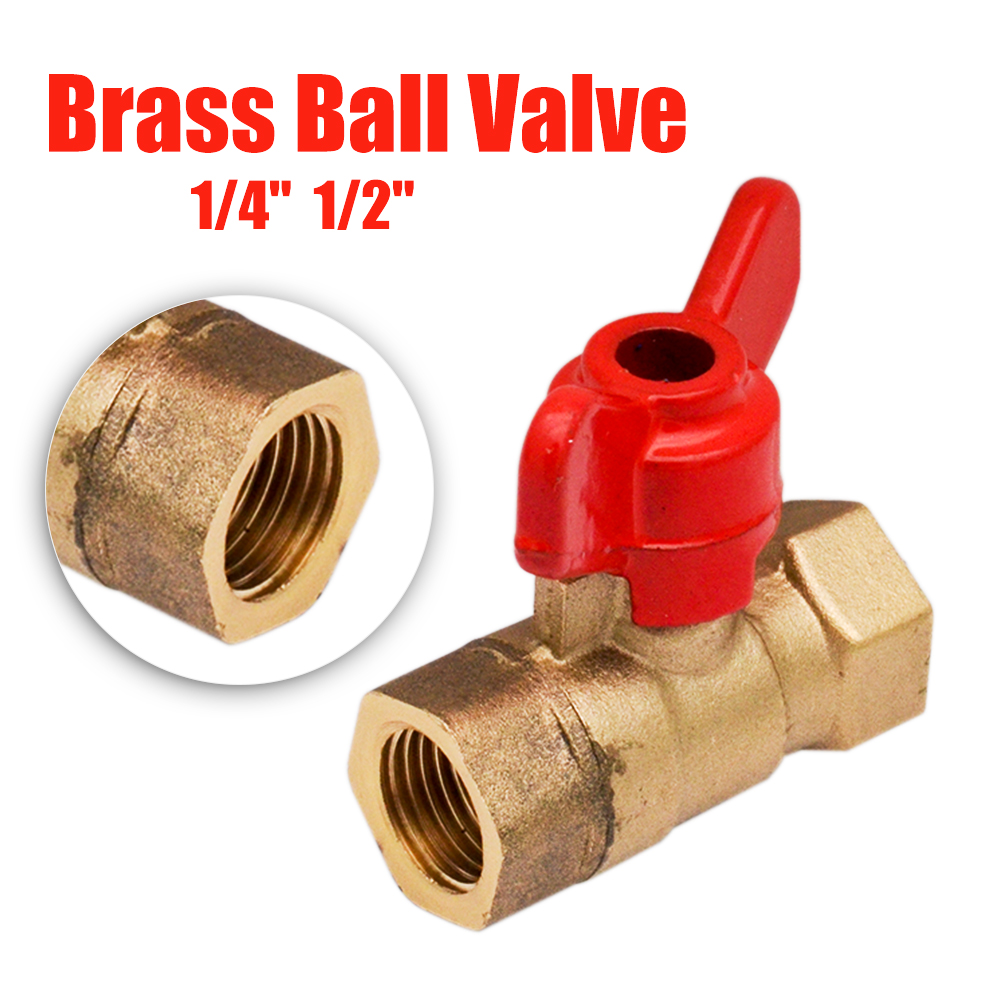 Red T Handle 3//4 BSPP Ball Valve Female x Female
