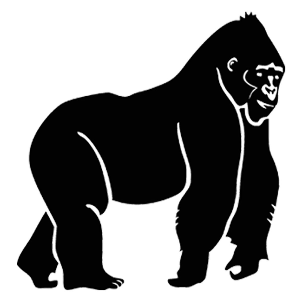 Gorilla Cowboy Head Car Bumper Sticker Decal 5/'/' 6/'/' or 8/'/' 3/'/'