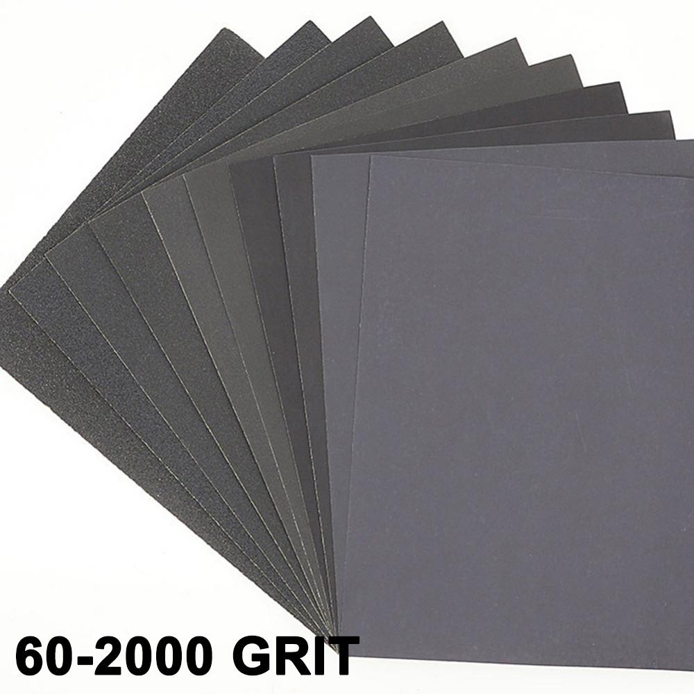 Nassschleifpapier 230x280mm Wasserfest Handschleifpapier Nasschleifpapier Korn 2000 50 St/ück