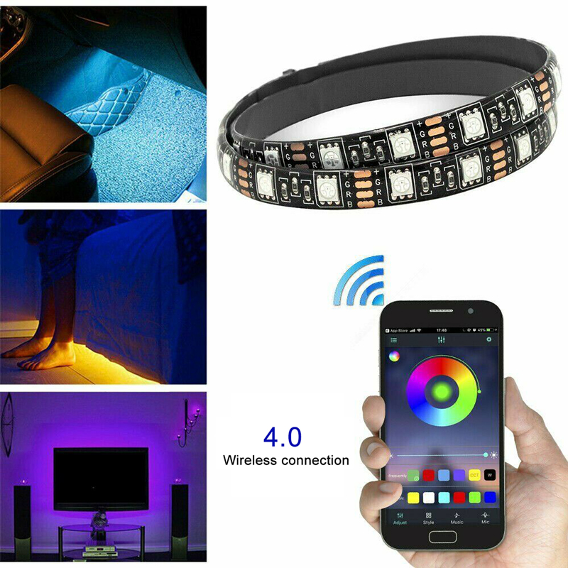 1M/2M/3M/4M/5M RGB 5050 Waterproof LED Strip Light SMD