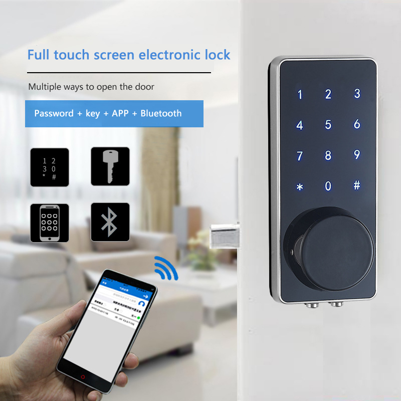 Home Electric Smart Digital Touch Keypad Door Lock Key Card Password Entry Code