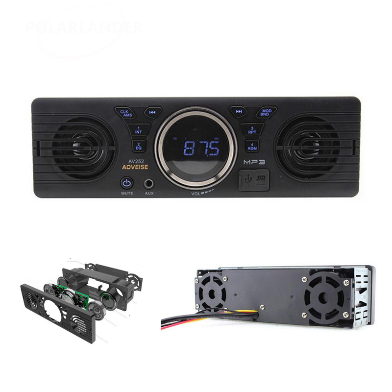 Details about Bluetooth host Built in Speakers 12V Car Stereo SD AUX Card Audio Receiver