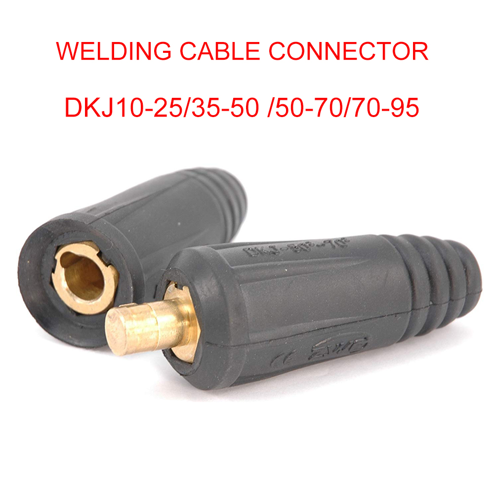 Portable Quick Fitting Plug with Panel Socket Cable Welding Connector 10-25mm
