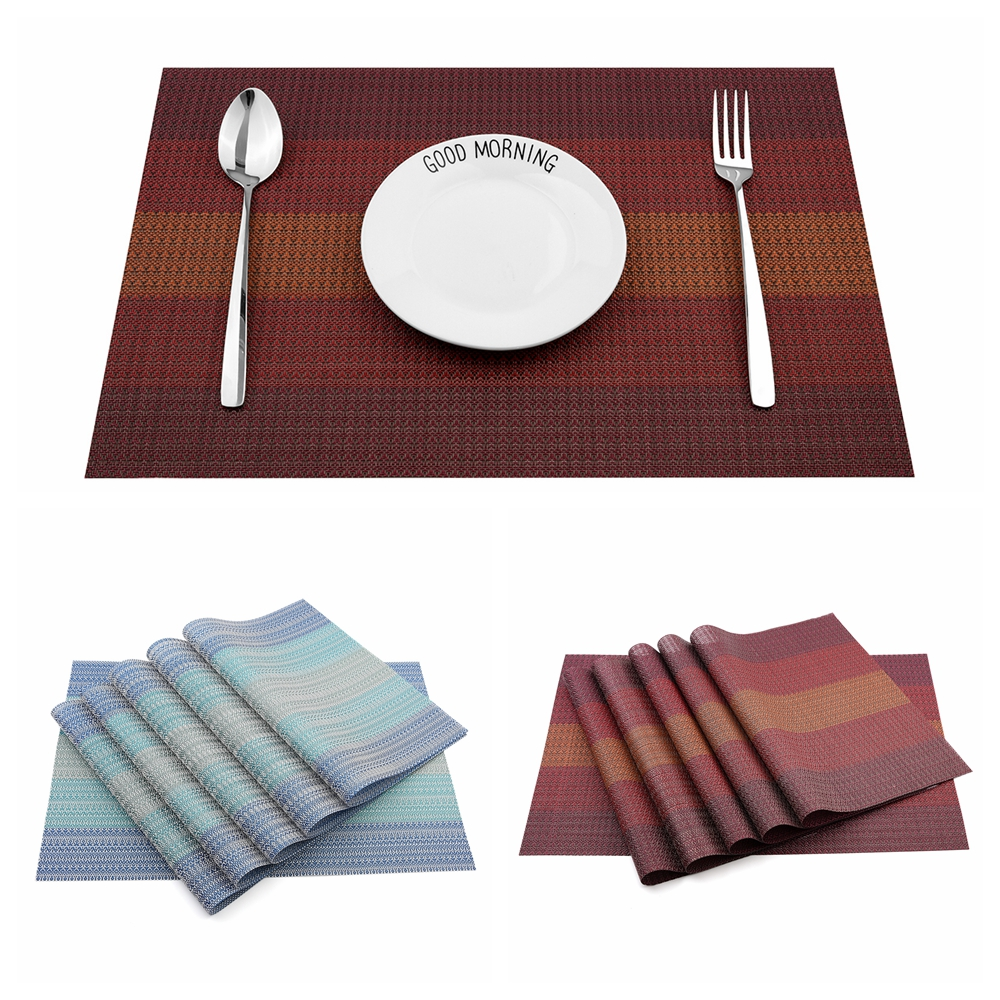 Cookware Dining Bar 1 2 4 6pcs Dining Table Setting Place Mats Non Slip Washable Placemats Pads Uk Home Furniture Diy Mhg Co Ke